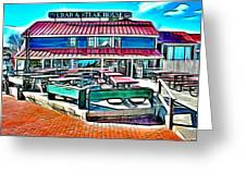 St Michaels Crab And Steak House Greeting Card
