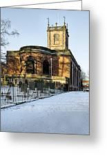 St Modwen's Church - Burton - In The Snow Greeting Card
