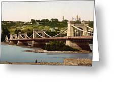 St Nicholas Bridge In Kiev - Ukraine - Ca 1900 Greeting Card
