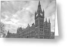 St Pancras Station Bw Greeting Card