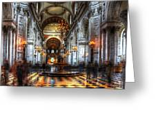 St Paul Cathedral Interior Greeting Card