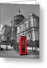 St Pauls Telephone Box Greeting Card