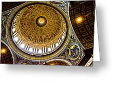 St Peter's Basilica Dome  Greeting Card