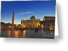 St Peters Basilica Greeting Card by Ed Rooney