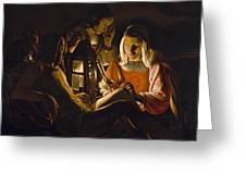 St. Sebastian Tended By Irene Greeting Card