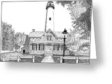St. Simons Lighthouse Greeting Card