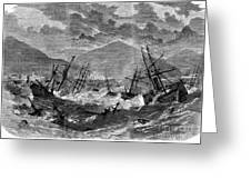 St. Thomas: Hurricane, 1867 Greeting Card