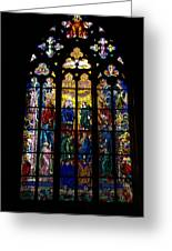 St Vitus Cathedral Stained Glass Greeting Card