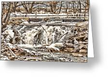 St Vrain River Waterfall   Greeting Card