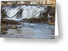 St Vrain River Waterfall Slow Flow Greeting Card