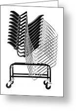 Stacked Chairs Greeting Card