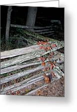 stacked Fence Greeting Card