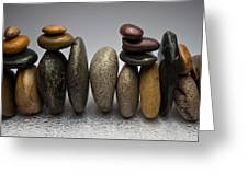 Stacked River Stones Greeting Card