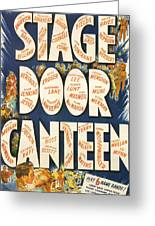 Stage Door Canteen Greeting Card by Georgia Fowler