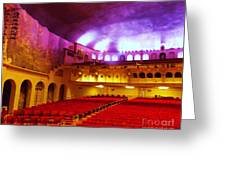 Stage Left Orpheum Greeting Card