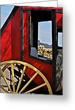 Stagecoach View Greeting Card