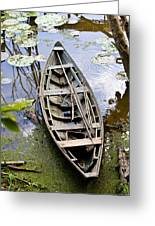 Stagnant Boat Greeting Card