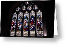 Stained Glass - Bath Abbey Greeting Card