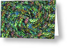 Stained Glass In Abstract Greeting Card