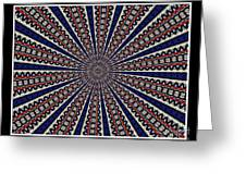 Stained Glass Kaleidoscope 49 Greeting Card