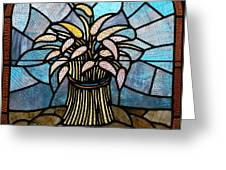 Stained Glass Lc 11 Greeting Card