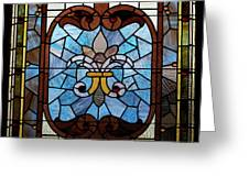 Stained Glass Lc 19 Greeting Card