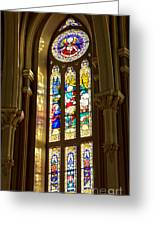 Stained Glass Of St Michaels Basilica Greeting Card