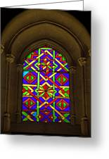 Stained Glass Window In Mezquita Greeting Card