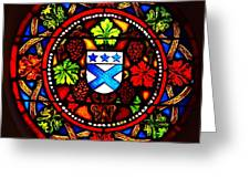 Stained Switzerland Window Greeting Card