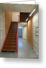 Staircase In Old Building Greeting Card