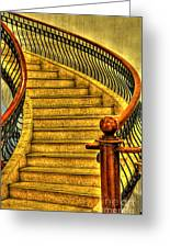 Stairs Hdr Processing Greeting Card