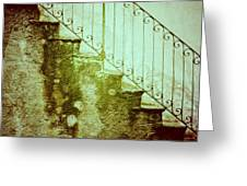 Stairs On A Rainy Day II Greeting Card