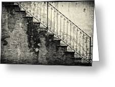 Stairs On A Rainy Day Greeting Card