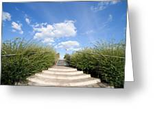 Stairs To The Big Blue Sky Greeting Card