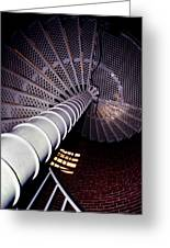 Stairs To The Light Greeting Card by Skip Willits