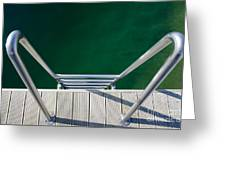 Stairs To The Water Greeting Card