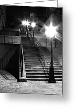 Stairway To Montmartre At Night Greeting Card