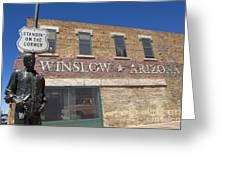 Standin On The Corner In Winslow Arizona Greeting Card