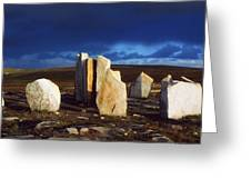 Standing Stones, Blacksod Point, Co Greeting Card