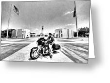 Standing Watch At The Houston National Cemetery Greeting Card by David Morefield
