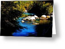 Stanislaus River Greeting Card by Helen Carson