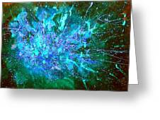Star Burst In The Milky Way Greeting Card