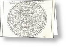 Star Map, 1805 Greeting Card by Detlev Van Ravenswaay