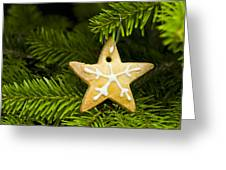 Star Shape Short Bread Cookie Greeting Card