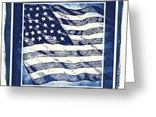Star Spangled Banner Blue Greeting Card