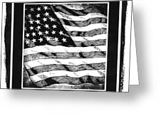 Star Spangled Banner Bw Greeting Card