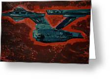 Star Trek Triptec Greeting Card by David Karasow