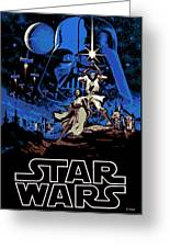 Star Wars Poster Greeting Card