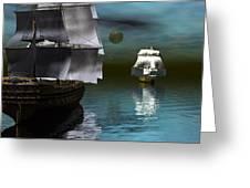 Starboard Guns Make Ready Greeting Card