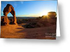 Starburst At Delicate Arch Greeting Card